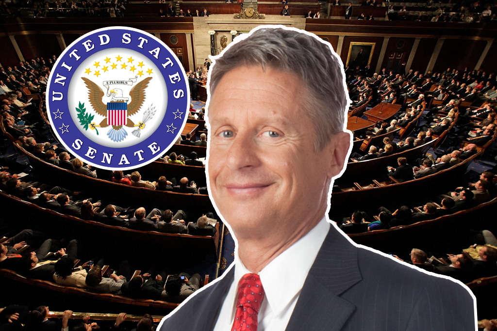 Gary Johnson Cannabis Sativa Inc Senate